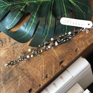 Sorrelli Black Diamond Pearl Bracelet